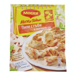 Подправка Маги Малки тайни за пиле с гъби в сметанов сос